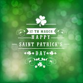pic of saint patrick  - Beautiful greeting card design for Happy St - JPG
