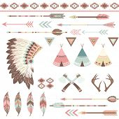 foto of wigwams  - Tribal Collection - JPG