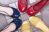image of shoes colorful  - Colorful Shoes women - JPG