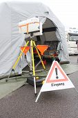 foto of triage  - Input of a medical tent as injured people - JPG