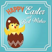stock photo of happy easter  - Happy Easter and Best Wish - JPG
