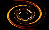 pic of fieri  - Beautiful bstract fiery circle on a black background - JPG