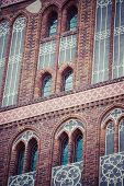image of city hall  - Gothic tower of town hall in Torun - JPG