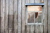 picture of barn house  - Wooden background - JPG