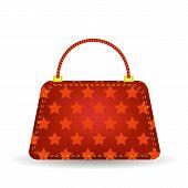 foto of single  - Single  Red Handbag Isolated on White Background - JPG