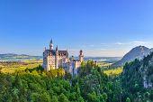 foto of bavaria  - Neuschwanstein Castle at Fussen city  - JPG