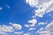 stock photo of cumulus-clouds  - Blue sky and clouds in summer season - JPG
