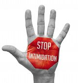 picture of stop fighting  - Stop Intimidation  Sign Painted  - JPG