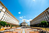 image of neo-classic  - An architectural ensemble of three Socialist Classicism edifices in central Sofia - JPG