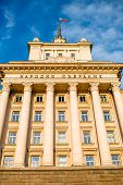 foto of neo-classic  - Party House in architectural ensemble of three Socialist Classicism edifices in central Sofia - JPG