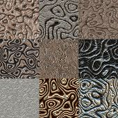 picture of bump  - Set of metal bumps seamless generated textures - JPG