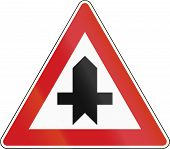 stock photo of priorities  - Czech traffic sign - JPG