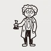 image of mad scientist  - Scientist Doodle - JPG