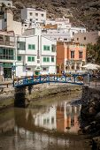 image of canary  - Small river canal in the Puerto de Mogan - JPG