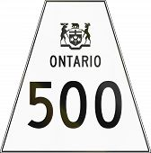 stock photo of trapezoid  - Canadian highway shield of Ontario highway number 500 - JPG