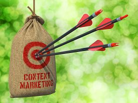picture of arrow  - Content Marketing  - JPG