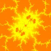 image of life after death  - A computer generated fractal representing life after death in orange and yellow - JPG