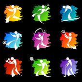 image of olympiad  - sport icons 1 vector - JPG