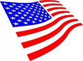 image of usa flag  - USA flag waving - JPG
