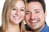 image of married couple  - Smiling young man woman couple - JPG