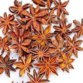 picture of mahi  - mahy star anise isolated on white background - JPG