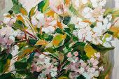 Постер, плакат: Oil Painting Impressionism Style Texture Painting Flower Still Life Painting Art Painted Color Im