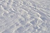 image of firn  - Close up of windy snow surface texture - JPG