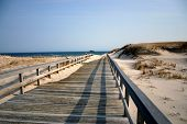 Boardwalk To Winter Beach - New Jersey