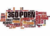 360 Porn, Word Cloud Concept poster