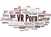 Vr Porn, Word Cloud Concept poster