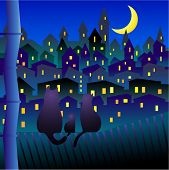 Cats In Night Town poster