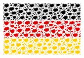 German Flag Collage Combined Of Boom Bang Icons. Vector Boom Bang Design Elements Are Organized Into poster