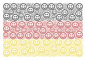 German Flag Collage Made Of Glad Smiley Pictograms. Vector Glad Smiley Design Elements Are Organized poster