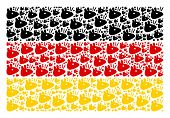 Germany Flag Mosaic Created Of Mouse Head Pictograms. Vector Mouse Head Design Elements Are United I poster