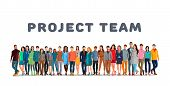 Project Team. Employee Group. The Team Of Workers. Men And Women In One Team. Men And Women In One P poster
