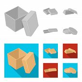 Case, Shell, Framework, And Other  Icon In Monochrome, Flat Style.box, Container, Package Icons In S poster