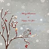 Winter retro background for christmas invitation