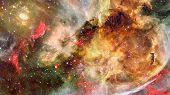 Starry Outer Space. Elements Of This Image Furnished By Nasa. poster