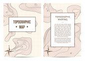 Topographic Mapping Company Banners With Space For Text. Abstract Lines Showing Elevation On Ground  poster