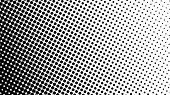 Gradient Halftone Dots Background Diagonal Vector Illustration. Black White Dots Halftone Texture. P poster