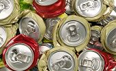 stock photo of reuse recycle  - Background made from smashed cans pollution and recycling concept - JPG