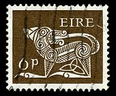 IRELAND-CIRCA 1968:A stamp printed in IRELAND shows image of