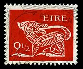 IRELAND-CIRCA 1979:A stamp printed in IRELAND shows image of