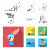 Equipment, Appliances, Appliance And Other  Icon In Outline, Flat Style., Cook, Tutsi. Kitchen Icons poster