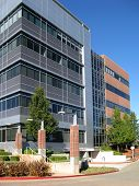image of building exterior  - Exterior shot of contemporary office buildings in business park - JPG