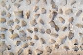 Stone Cement Structure Decorative Wall Of Cement poster