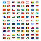 Country Flags. World Wide Independence Map Name Of Different Flags Banners Vector Symbols. Big Set O poster