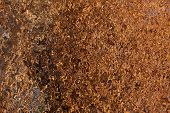 Illustration Of Brown Texture From Abstraction And Distortion Of A Metal Rusty Mesh poster