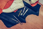 Shoes ,leather And Shoemaking Tools poster
