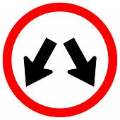 Keep Left Or Keep Right Traffic Road Sign,vector Illustration, Isolate On White Background Label. Ep poster